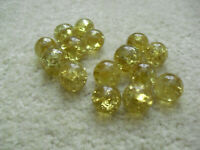 """Lot of 15 Vintage Glass Agate Gold Crackle Marbles About 11/16"""" to 3/4"""" Wide"""
