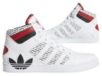 New ADIDAS Originals Hard Court hi top Mens white athletic sneaker all sizes