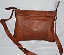 Real Leather Brown Vintage Women's Shoulder Bag