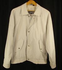 Members Only Lightweight Jacket Full Zip Lined Beige Ivory Size 42