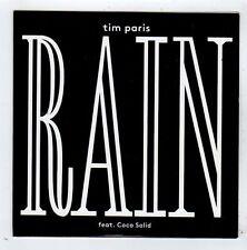 (FY950) Tim Paris, Rain ft Coco Solid - 2013 DJ CD