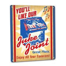 Juke Joint Retro Metal Sign Box Jukebox 45 rpm CD Digital Diner Cafe Drive In