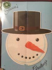 Gatefold Christmas Cards Snowman ⛄� Season Greetings 20 Total Nib