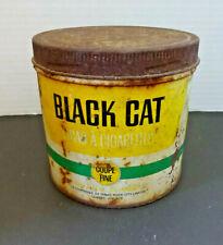 Vintage Black Cat Fine Cut Tobacco Tin Rock City Tobacco Quebec