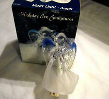 Heritage Mint Acrylic Angel Night Light Christmas Holiday Ice Sculpure Decor New