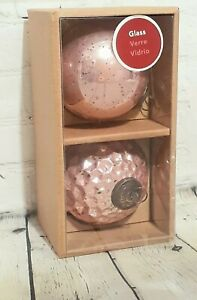 Allen Roth Pink Glass Heavy Christmas Tree Ornaments New In Box Pink Chic Patina