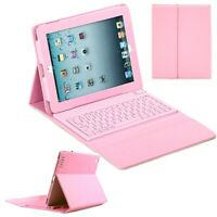 SOFT PINK LEATHER BLUETOOTH WIRELESS KEYBOARD COVER CASE FOR IPAD2/3/4 UK GIFT