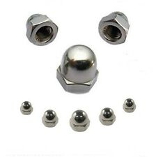 Hutmuttern 6 mm DIN 1587  M6  Edelstahl A2  50 Stk.** Profi-Qualität **