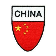 China National Flag Shield Patch Country Team Badge Embroidered Iron On Applique