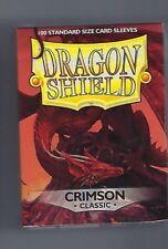 (100) Dragon Shield Crimson Protective Sleeves Sealed Magic MTG FREE SHIPPING
