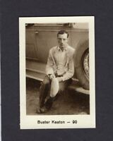 1932 Buster Keaton Monopol Cigarette Tobacco Card Hollywood Film Movie Star