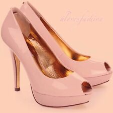 ✨🌸TED BAKER Nude Pink Patent Leather High Heel Shoes UK 6 EU 39 US 8 FAST📮🌸✨