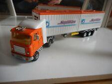 Majorette US Truck + Containre Trailer in Orange/White (Serie 3000)