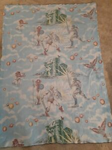 VINTAGE 1980s He Man MOTU Twin blanket 7ft.x5ft. Rough but VERY COOL(check pics)