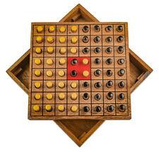 Wende den Stein Erobere den Stein Strategiespiel Denkspiel Brettspiel aus Holz