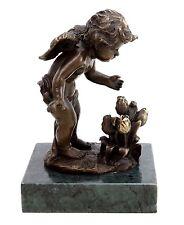 Griechische Mythologie Bronze - Amor der Tulpenkönig - Gott der Liebe sign. Milo