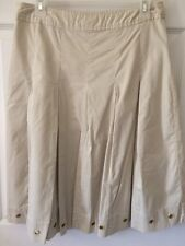 George Womens Midi Below The Knee Skirt Lined Sz 4 Small Aline Modest Vintage