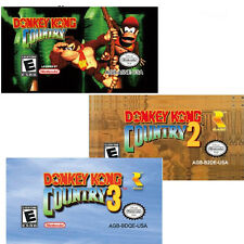 3 set Donkey Kong Country 1 2 3 game card for Nintendo Game Boy GBM/GBA/SP/NDS