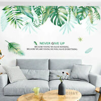 Tropical Leaves Wall Sticker Nursery Home Decor Removable Vinyl Decal Art Mural
