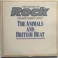 History of Rock Vol 28 - The Animals & British Beat Double Vinyl LP EX/EX/VG+