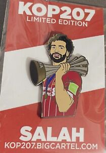 Liverpool FC Mohammed Salah With World Club Champions Trophy Pin, Not Kop Badges