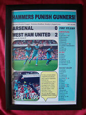 Arsenal 0 West Ham United 2 - 2015 - framed print
