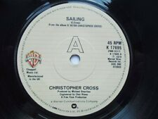 "Christopher Cross Sailing 7"" Warner Bros K17695 EX 1979 Sailing/The Light Is On"