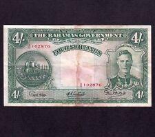 Bahamas, 4 Shillings 1936, P-9e * King George *