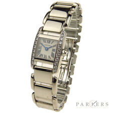CARTIER TANKISSIME 18CT WHITE GOLD WITH DIAMONDS QUARTZ WRISTWATCH WE70069H