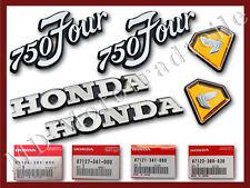 Honda CB 750 Four K2 Seitendeckelembleme und Tankembleme komplett Original neu