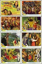 THE WIZARD OF OZ  JUDY GARLAND COMPLETE SET OF 8 WONDERFUL 8x10 LC PRINTS R-49