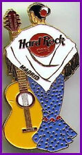 Hard Rock Cafe MADRID 2000 Flamenco Lady PIN Acoustic Guitar - HRC Catalog #5150
