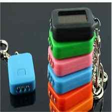Mini Solar Power Rechargeable 3LED Flashlight Keychain Light Lamp Torch Gift  GA