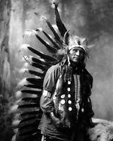 Native American CHIEF LITTLE HORSE Glossy 8x10 Photo Oglala Lakota Print Indian