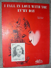 1946 I FALL IN LOVE WITH YOU EV'RY DAY Sheet Music CONNIE BOSWELL by Sam Stept
