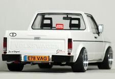 "1:18 Custom ""MK1 VOLKSWAGEN CADDY Pick-Up MODIFIED TUNING Rabbit VW GOLF GTi VR6"