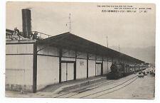 1915 Postcard Train Depot and Steamer Dock Kobe Japan