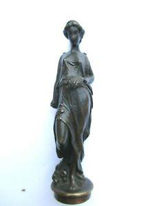 N°1 Ancien- CACHET - SCEAU  BRONZE finement ciselé FEMME Drapée à l'antique