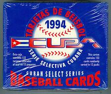1994 CUBA BASEBALL SEALED BOX OF 12 PACKS GEM MINT VERY RARE