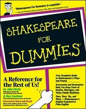 Shakespeare for Dummies WILLIAM ENGLAND STRATFORD POETRY BOOK, AUTHOR BARD