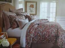 VILLA ALARA JACOBEAN FLORAL Tapestry RUST GOLD Multi QUEEN COMFORTER Sham SET 3P