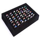 Velvet Ring Jewellery Display Box Cufflinks Storage Tray Case Organizer New