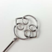 ANTIQUE EDWARDIAN STERLING SILVER CHARLES HORNER HAT PIN CHESTER