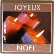 12 Etiquettes stickers pour fêtes et cadeaux Noel  JOYEUX NOEL Motif bougies