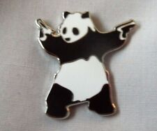 *NEW* Banksy style gun panda enamel pin badge. Graffiti, Street Art.