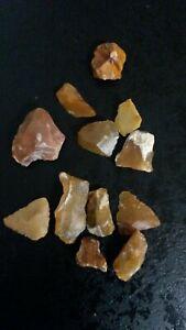 12 Shatter Flint Neolithic Prehistory Charente France Hj