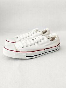 Vintage Converse All Star White USA Made Low Top Chuck Taylor Shoes Mens Sz 10