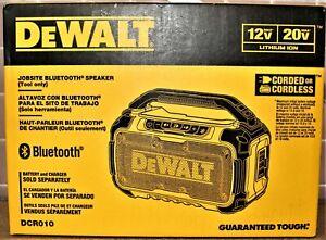 Dewalt DCR010 Jobsite Bluetooth Speaker 12V/20V Cordless