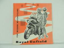1950's Royal Enfield Dealer Brochure 250 Clipper Crusader 250 Prince L2076