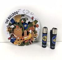 The Bulldog Amsterdam - Ashtray & Lighter set - Genuine - x1 Ashtray x2 Lighters